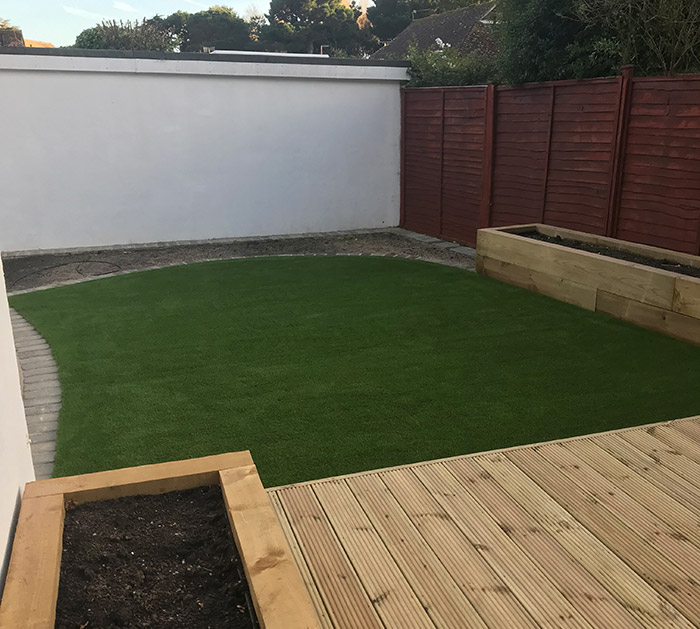Decking one of the Services by Brookview Landscapes