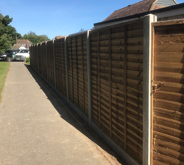 Fencing one of the Services by Brookview Landscapes